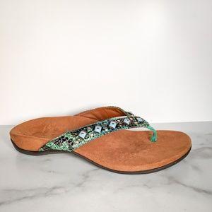 VIONIC Floriana embellished thong sandal beaded